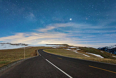 Photograph - Jupiter Over Trail Ridge Road by Al Hann