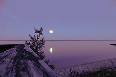 Photograph - Just Before Sunrise Straits Of Mackinac by Sally Sperry