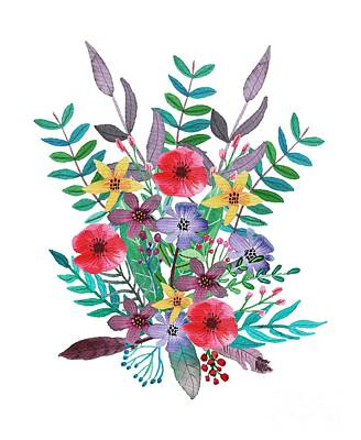 Wall Art - Painting - Just Flora I by Amanda Lakey