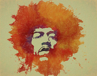 Music Paintings - Just Jimi by Dan Sproul