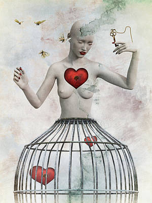 Surrealism Digital Art - Just open your heart by Mihaela Pater