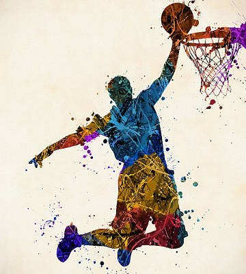 Sports Paintings - Just Slam by Dan Sproul
