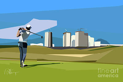 Digital Art - Justin Rose In Rio  by Wendy Thompson