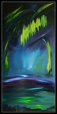 Painting - K Aurora Lights        35 by Cheryl Nancy Ann Gordon