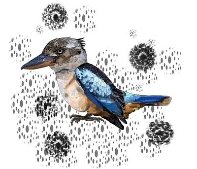 Child Wall Art - Digital Art - K Is For Kookaburra by Joan Stratton