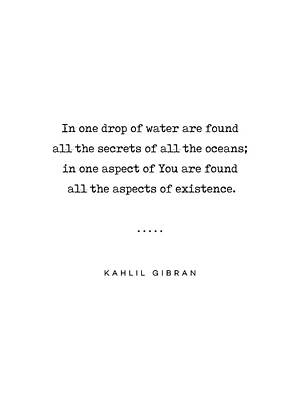 Mixed Media Rights Managed Images - Kahlil Gibran Quote 05 - Typewriter Quote - Minimal, Modern, Classy, Sophisticated Art Prints Royalty-Free Image by Studio Grafiikka