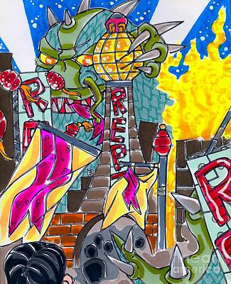Drawing - Kaiju Premiere by Shannon Hedges