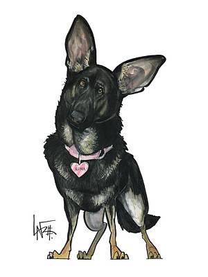 Drawing - Kaiser 4834 by John LaFree