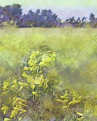 Sara Habecker Folk Print - Kale Fields by CR Leyland