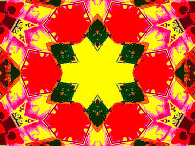 Digital Art - Kaleidoscope Abstract 10c by Artist Dot