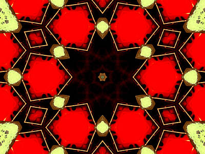 Digital Art - Kaleidoscope Abstract 13 by Artist Dot