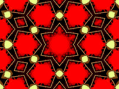 Digital Art - Kaleidoscope Abstract 15 by Artist Dot