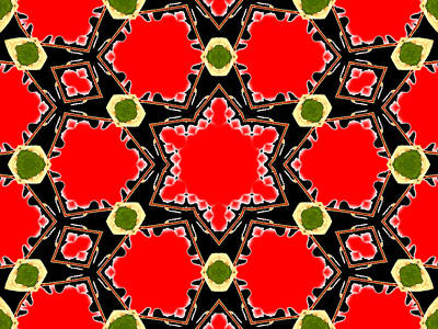 Digital Art - Kaleidoscope Abstract 15b by Artist Dot