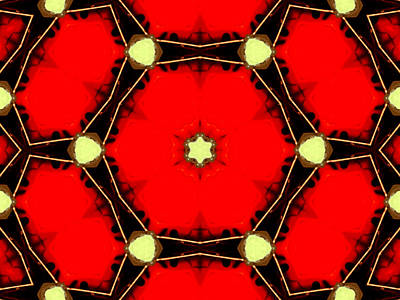 Digital Art - Kaleidoscope Abstract 16 by Artist Dot
