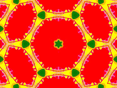 Digital Art - Kaleidoscope Abstract 16b by Artist Dot