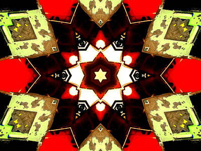 Digital Art - Kaleidoscope Abstract 9 by Artist Dot