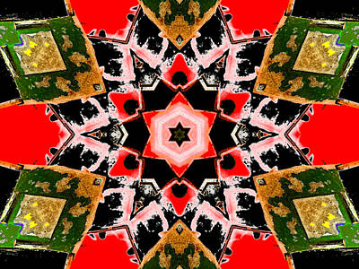 Digital Art - Kaleidoscope Abstract 9b by Artist Dot