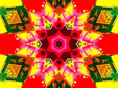 Digital Art - Kaleidoscope Abstract 9c by Artist Dot