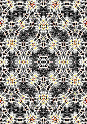 Digital Art - Kaleidoscope Abstract Pattern 9 by Artist Dot