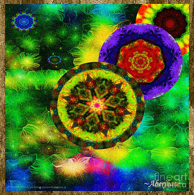 Mixed Media - Kaleidoscope Moon For Children Gone To Soon Number - 3 Intensified  by Aberjhani