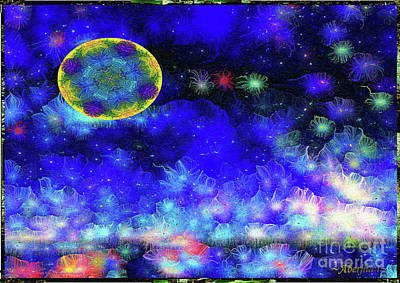Mixed Media - Kaleidoscope Moon For Children Gone Too Soon Number 1 - Ascension  by Aberjhani
