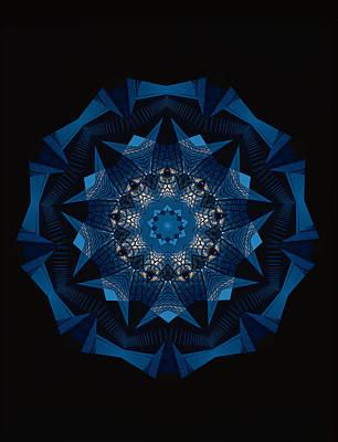 Symmetry Digital Art - Kaleidoscope Pattern by Shigeru Tanaka