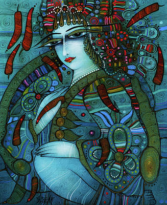 Wall Art - Painting - Kalina With Red Peppers by Albena Vatcheva