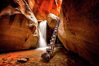 Photograph - Kanarra Creek Falls by Ryan Wyckoff