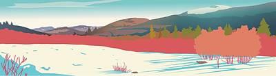 Kancamagus Overlook Art Print by Marian Federspiel