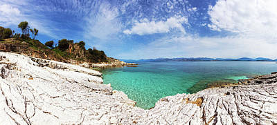Photograph - Kanoni Beach In Corfu Island by Evgeni Dinev