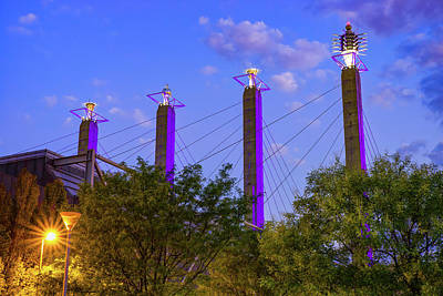 Photograph - Kansas City Bartle Sky Stations At Dawn by Gregory Ballos