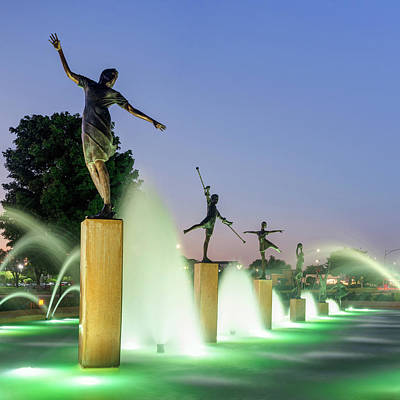 Royalty-Free and Rights-Managed Images - Kansas City Childrens Fountain Square Format by Gregory Ballos