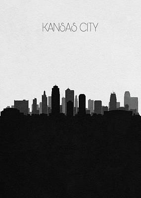 Digital Art - Kansas City Cityscape Art by Inspirowl Design