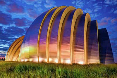 Royalty-Free and Rights-Managed Images - Kansas City Kauffman Center at Dawn by Gregory Ballos