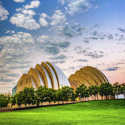 Photograph - Kansas City Kauffman Center Landscape - Square by Gregory Ballos