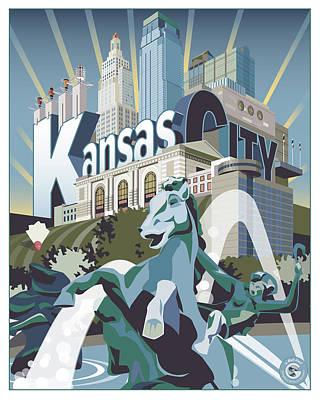 Digital Art - Kansas City by Matt Hood