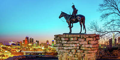 Royalty-Free and Rights-Managed Images - Kansas City Scout and Skyline Panorama by Gregory Ballos