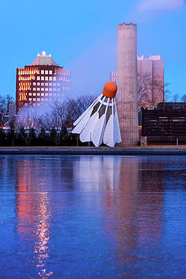 Royalty-Free and Rights-Managed Images - Kansas City Shuttlecock Reflections on Ice by Gregory Ballos
