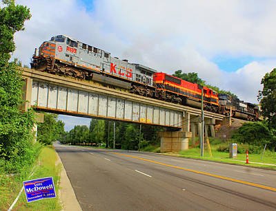 Photograph - Kansas City Southern In South Carolina by Joseph C Hinson Photography