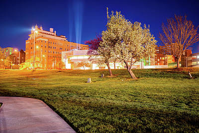 Photograph - Kansas City Spring Night Landscape - Plaza Area by Gregory Ballos