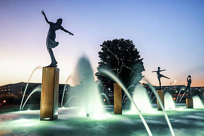 Photograph - Kansas City's Children Fountain With Soft Morning Light by Gregory Ballos