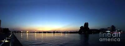 Photograph - Kaohsiung Port At Dusk Panorama by Yali Shi