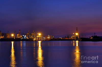Photograph - Kaohsiung Port At Dusk by Yali Shi