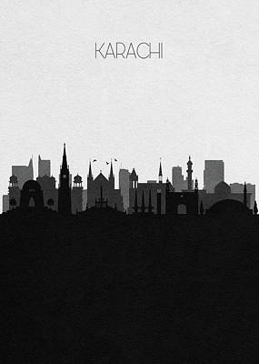 Drawing - Karachi Cityscape Art by Inspirowl Design