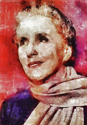 Royalty-Free and Rights-Managed Images - Karen Blixen, Literary Legend by Esoterica Art Agency