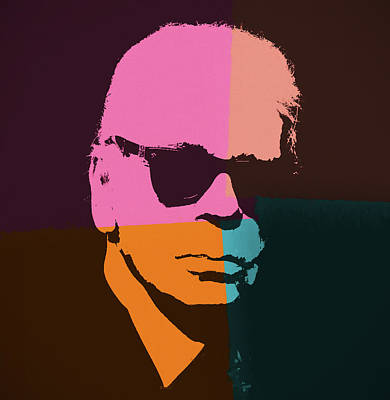 Painting - Karl Lagerfeld Pop Art by Dan Sproul