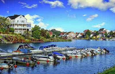 Photograph - Karlskrona Inner Harbor View by Anthony Dezenzio