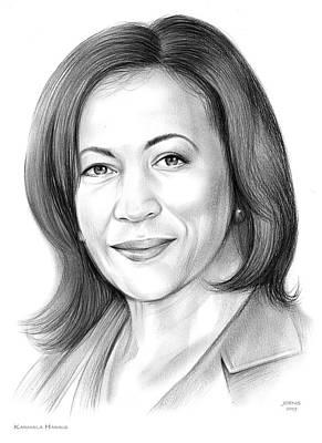 Drawings - Karmala Harris by Greg Joens