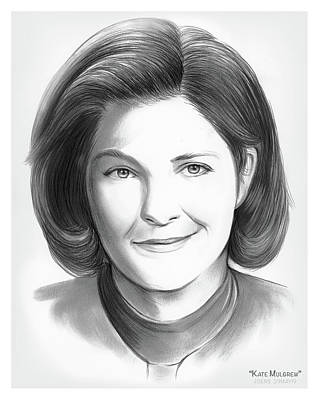 Watercolor City Skylines - Kate Mulgrew by Greg Joens