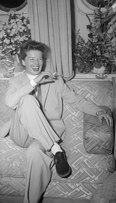 Photograph - Katharine Hepburn by Evening Standard